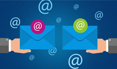 Dividir caixa postal entre domínios