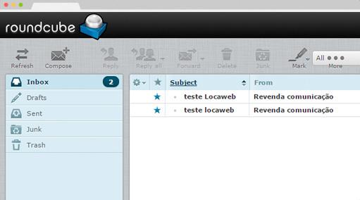 Interface de email revenda plesk