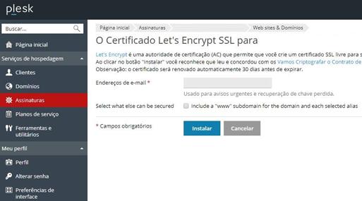 Certificado SSL e protocolo HTTPS com alto padrão