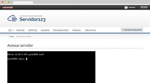 Servidor via SSH e Console